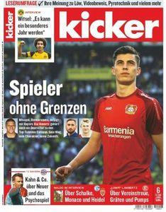 13 Ausgaben vom Kicker für 57,72€   Prämie: 57,72€ Verrechnungsscheck