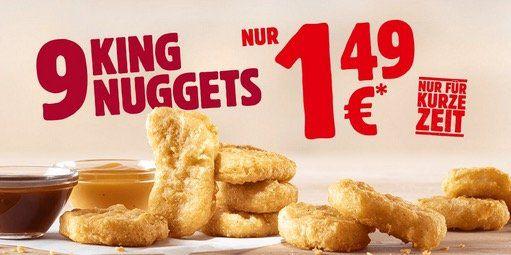 9 Stück King Nuggets inkl. Saucen für nur 1,49€