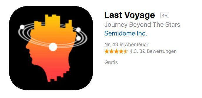 iOS: Last Voyage kostenlos (statt 5,49€)