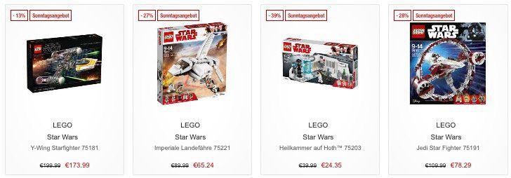 Galeria Kaufhof Sonntagsangebote   z.B. 13% Rabatt auf LEGO Ninjago, Star Wars & Duplo