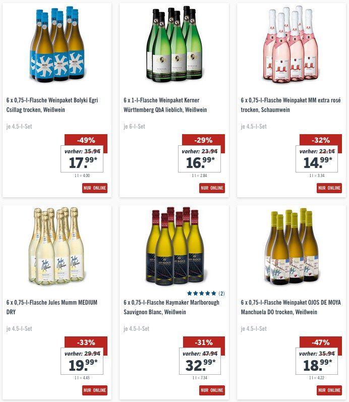 18 Flaschen Weisswein Pedro Jimenez nur 29,97€ (statt 76,77€)   viele weitere Deals