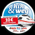 10€ Bahn-eCoupon in Ferrero Aktionspackungen