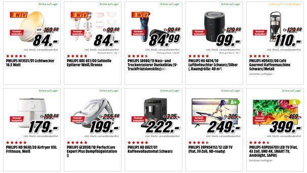 Media Markt Marken Sparen: günstige Artikel von Philips, Singer, Tefal und Clatronic