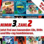 Bei MediaMarkt 3 Blu-rays, CD oder DVDs kaufen und nur 2 bezahlen