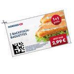 Nordsee Gutscheine bis zu 50% Rabatt z.B. 2 Backfisch-Baguettes 2,99€ oder 2. Filet für 1€ Aufpreis