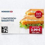 Nordsee Gutscheine bis zu 50% Rabatt – z.B. 2 Backfisch-Baguettes 2,99€