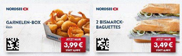 Nordsee Gutscheine bis zu 50% Rabatt   z.B. 2 Backfisch Baguettes 2,99€
