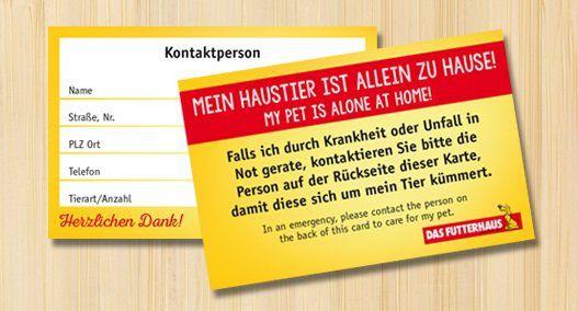 Kostenlos: Notfallkarte für Tierbesitzer