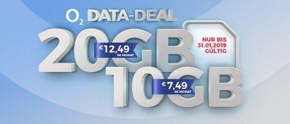 Bis 10 Uhr! ? O2: 10GB Free LTE Datenflat für 7,49€/Monat oder 20GB für 12,49€/Monat   keine Anschlussgebühr