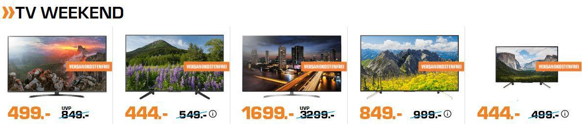 Saturn Weekend Sale: günstige TVs, Tablets, Lifestyle Artikel und Foto Zubehör