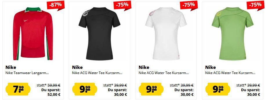 Nike Sale bei Sportspar für Kids, Damen & Herren bereits ab 1,99€