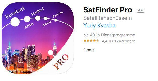 iOS: SatFinder Pro kostenlos (statt 4,49€)