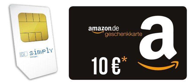 simply Allnet Flat mit SMS im O2 Netz mit 3GB LTE für 7,99€ monatlich kündbar   dazu 10€ Amazon Gutschein