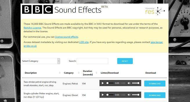 Gratis: 16.000 Soundeffekte von der BBC