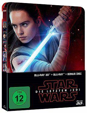 Star Wars   Die letzten Jedi 3D Steelbook Blu ray für 17€ (statt 25€)
