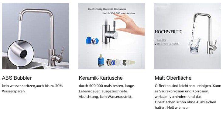Drehbarer Wasserhahn Homelody 360 aus Edelstahl für 21,99€ inkl. Versand (statt 43€)