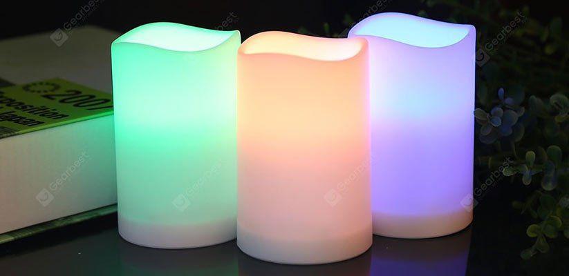 3er Pack LED Kerzen mit Fernbedienung & Farbwechsel für 5,40€
