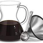 Kaffeebereiter Set mit Glaskaraffe & Edelstahlfilter für 13,79€ – Prime
