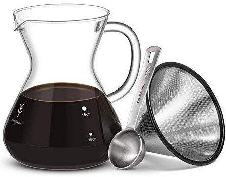 Kaffeebereiter Set mit Glaskaraffe & Edelstahlfilter für 13,79€   Prime