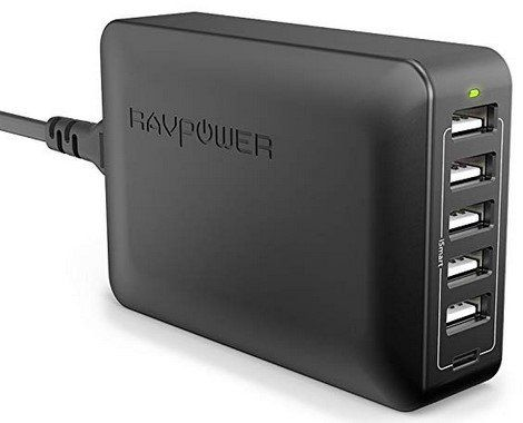 RAVPower RP PC033 6 Port USB Ladegerät 60W 5V/3A für 18,99€ (statt 26€)