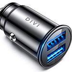 DIVI Mini Kfz-Ladegerät mit 2 USB-Ports (24W 5V / 4.8A) für 5,49€ – Prime