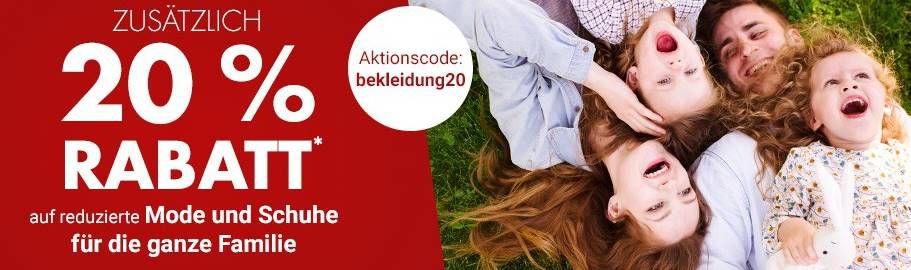 Karstadt mit 20% Extra Rabatt auf Mode & Schuhe