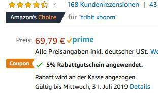 Wasserdichter Bluetooth Lautsprecher Tribit BTS30 mit Surround & xBass für 46,30€