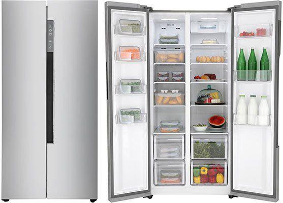 Amerikanischer Kühlschrank Edelstahl : Haier hrf ds side by side kühlschrank in edelstahl optik für