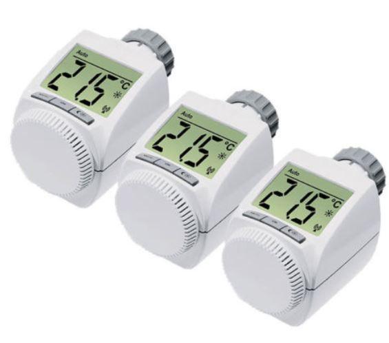 EQ3   3er Set elektronische Heizkörperthermostate für 29,95€ (statt 46€)