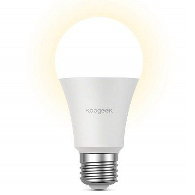 Koogeek WiFi Smart Birne (E27, warmweiß, Alexa, Google Assistant & Homekit) für 14,99€ (statt 20€)