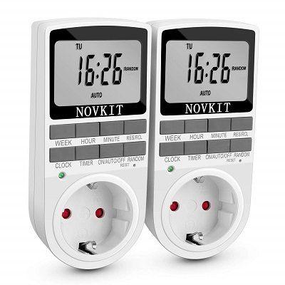2 Novkit Steckdosen mit eingebauter Zeitschaltung mit konfigurierbaren Wochenprogrammen für 16,79€ (statt 24€)
