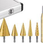 Tacklife (PDH06A) 5-tlgs. HSS Stufenbohrer-Set im Aluminiumkoffer für 16,99€ (statt 22€)
