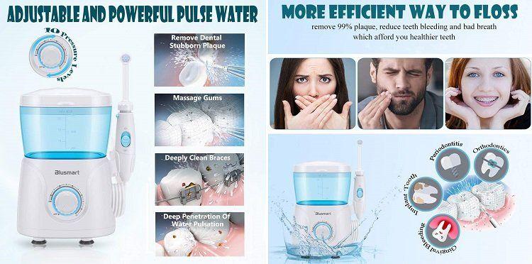 Blusmart Munddusche mit 600 ml Wassertank und 8 Düsen für 16,49€ (statt 33€)
