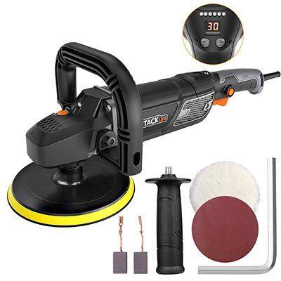 Tacklife PPGJ01A Poliermaschine mit 1500W, LED-Anzeige & 180mm Polierteller für 65,99€ (statt 80€)