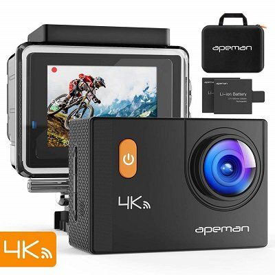 Apeman A80 (2017)   4K Actioncam mit 20 MP & 2 Akkus & Tasche für 51,99€ (statt 80€)
