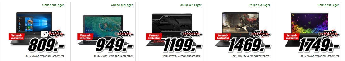 Media Markt Gaming Tiefpreisspätschicht: günstige PCs, Notebooks & Monitore