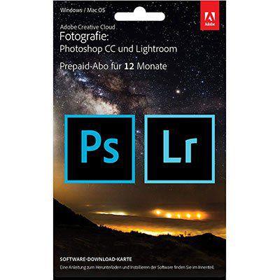 Adobe Creative Cloud Fotografie (1 Jahr) für 111,11€ (statt 133€)