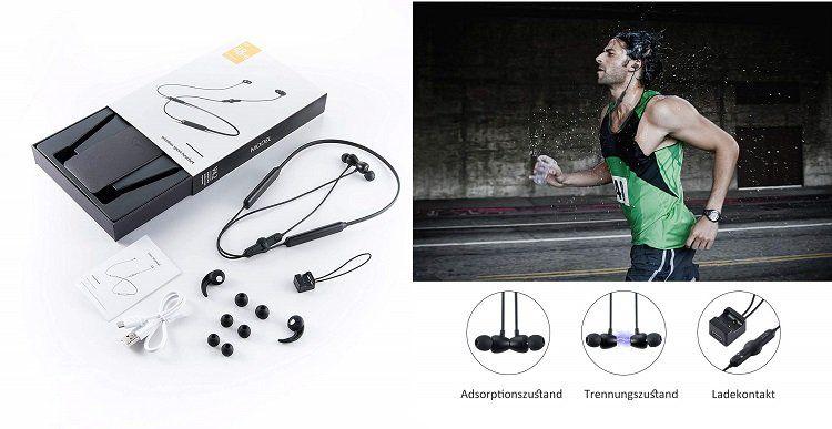 Ruicer Bluetooth In Ear Kopfhörer mit bis zu 48 h Akkulaufzeit für 24,79€ (statt 50€)