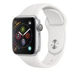Apple Watch Series 4 40mm Alu-Gehäuse und weißem Sportarmband für 379,90€ (statt 409€)