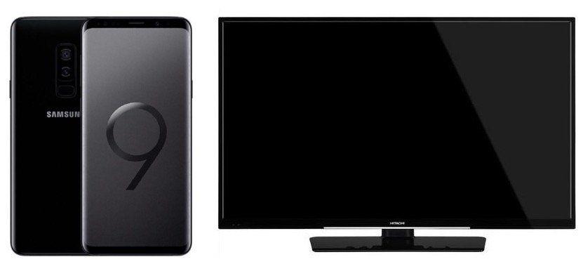 Samsung Galaxy S9 + 50″ Hitachi UHD Fernseher für 4,95€ + Vodafone Allnet Flat mit 11GB LTE für 46,99€ mtl.