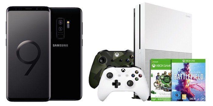 Ausverkauft! Samsung Galaxy S9+ mit Xbox One S inkl. 2 Controllern, Game Pass (12 Monate), Battlefield 5 für 40€ + O2 Flat mit 20GB LTE Max für 34,99€ mtl.