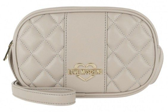 Love Moschino Quilted Nappa Crossbody Bag Tortora für 54,80€ (statt 105€)