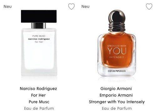 Duft Neuheiten mit 20% Rabatt bei Flaconi   z.B. 30ml Giorgio Armani Stronger With You Intensly Eau de Parfum für 40,76€
