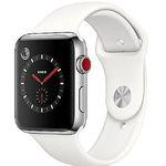 Apple Watch Series 3 (GPS + Cellular) mit Edelstahl-Gehäuse 42mm und Sportarmband für 399€ (statt 460€)