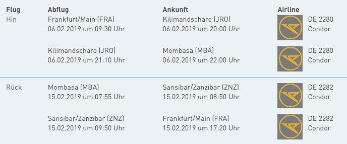 Super Last Minute: Hin  und Rückflug von Frankfurt nach Mombasa (Kenia) inkl. 20kg Gepäck für nur 280€ p.P.