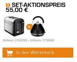 Morphy Richards Wasserkocher und Toaster für 55€ (statt 94€)