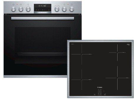 Bosch HND674OS60 Einbauherd Set mit Induktions Kochfeld und Pyrolyse für 999€ (statt 1.138€)