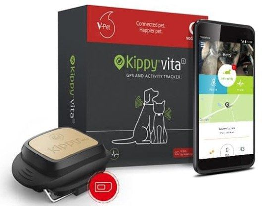 Pricedrop! Kippy Vita GPS Hundetracker + Vodafone V SIM inkl. 12 Monate Datenpaket für 8,37€ (statt 106€)