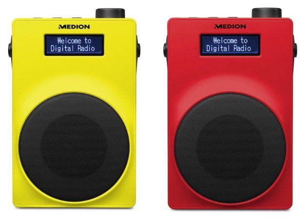 Medion LIFE E66880 UKW DAB+ Radio in Gelb für 19,95€ (statt 40€)   grün, weiss, blau für 24,95