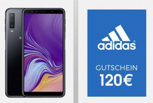 Vodafone Red+ Partnerkarte für 15,99€ mtl. + Samsung Galaxy A7 (2018) für 49,95€ + 120€ adidas Gutschein